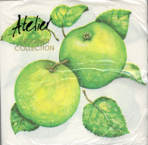 DecoArt Decor Napkin Green Apples. 20p.