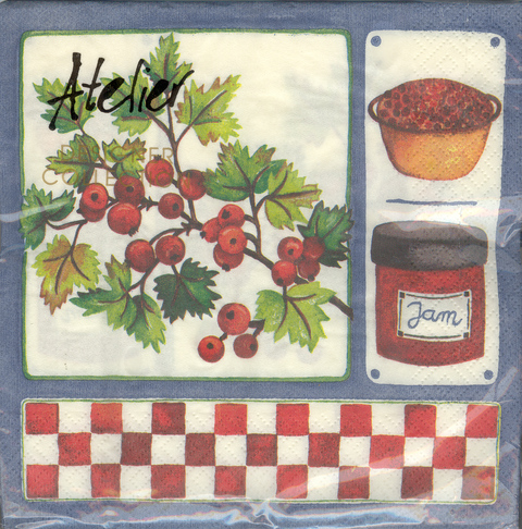 DecoArt Decor Napkin Jam & Berries. 20p.