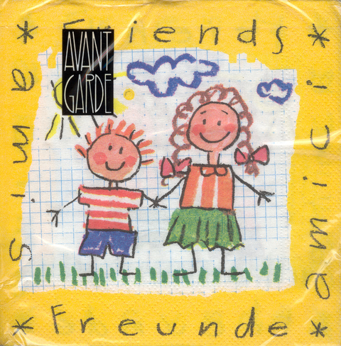 DecoArt Decor Napkin Friends. 20p.