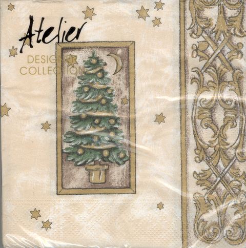 DecoArt Decor Napkin Gold Tree. 20p.