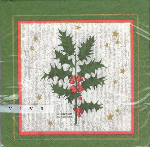 DecoArt Decor Napkin Holly. 20p.
