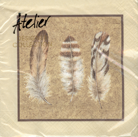 DecoArt Decor Napkin Feathers. 20p.