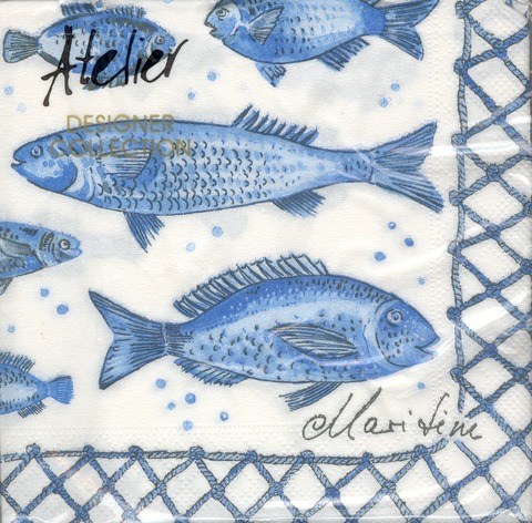 DecoArt Decor Napkin Fish. 20p.