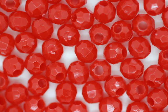 4mm Facet Opaque; Red 100g (approx 2780p)