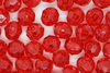 6mm Facet Transparent; Raspberry 250g (approx 2300p)