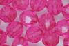 8mm Facet Transparent; Hot Pink 250g (approx 975p)
