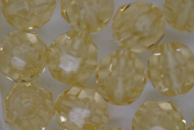 10mm Facet Transparent; Champagne 250g (approx 500p)