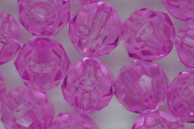 10mm Facet Transparent; Light Amethyst 250g (approx 500p)