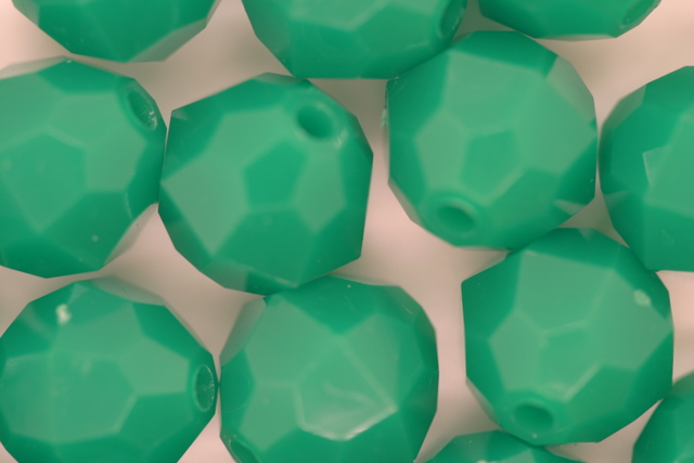 12mm Facet Opaque; Dark Green 250g (approx 330p)