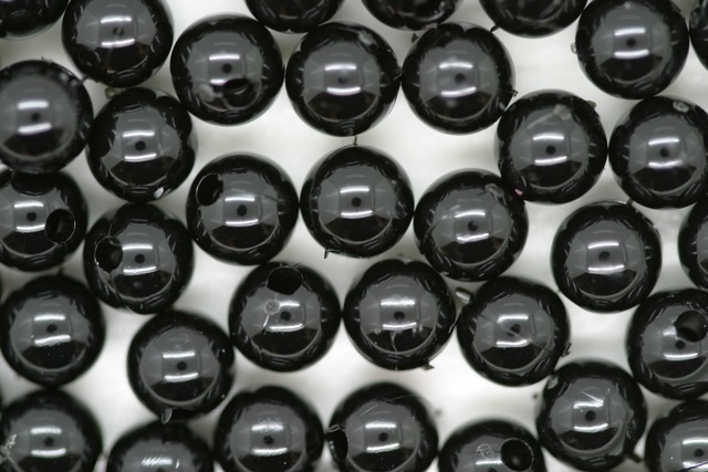 6mm Round Beads; Opaque Black 250g (approx 2240p)