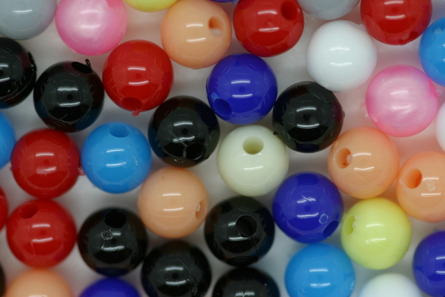 6mm Round Beads; Opaque Multi 250g (approx 2240p)