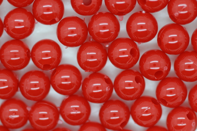 6mm Round Beads; Opaque Red 250g (approx 2240p)