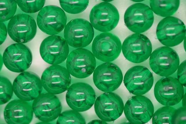 6mm Round Beads; Transparent Xmas Green 250g (approx 2240p)