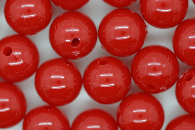 9mm Opaque Round; Red 250g (approx 646p)
