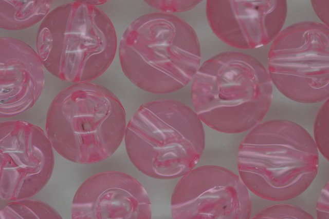 9mm Transparent Round; Soft Pink 250g (approx 646p)