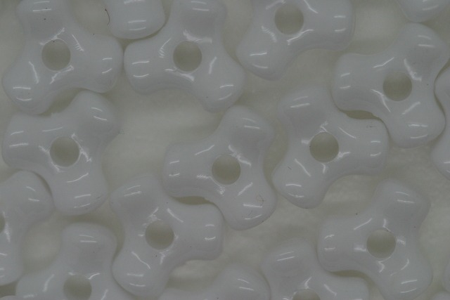 Tri Beads Opaque; White 250g (approx 1250p)