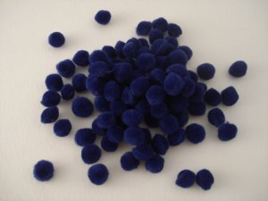 Pom Poms / Chenille Poms/ 10mm Royal