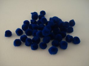 Pom Poms / Chenille Poms/ 13mm Royal