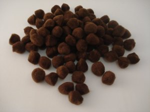 Pom Poms / Chenille Poms/ 20mm Brown
