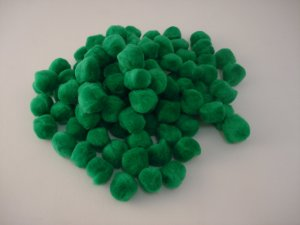 Pom Poms / Chenille Poms/ 20mm Kelly