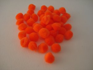 Pom Poms 20mm 100p; Orange