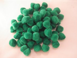 Pom Poms / Chenille Poms/ 25mm Kelly