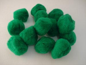 Pom Poms / Chenille Poms/ 50mm Kelly