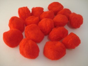 Pom Poms / Chenille Poms/ 50mm Red