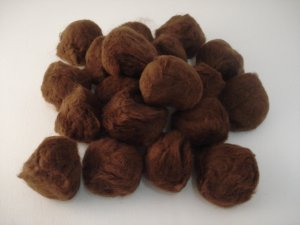 Pom Poms / Chenille Poms/ 63 mm Brown