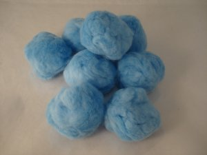 Pom Poms / Chenille Poms/ 63 mm Light Blue