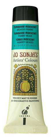 Jo Sonja Iridescent Micaceous Pigment Turquoise 60ml
