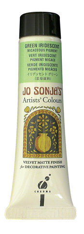Jo Sonja Iridescent Micaceous Pigment Green 60ml