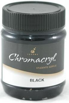 Chromacryl 250ml Black