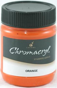 Chromacryl 250ml Orange Vermiln