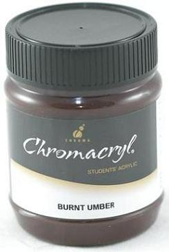 Chromacryl 250ml Burnt Umber