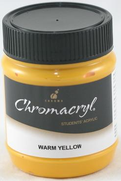 Chromacryl 250ml Warm Yellow