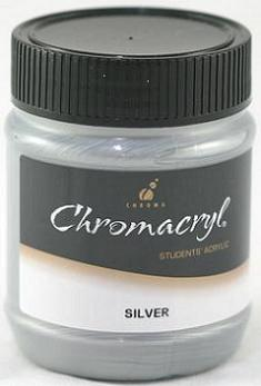 Chromacryl 250ml Silver