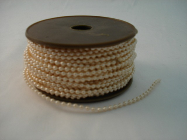 Fused Pearls 3mm x 30 metre Apricot