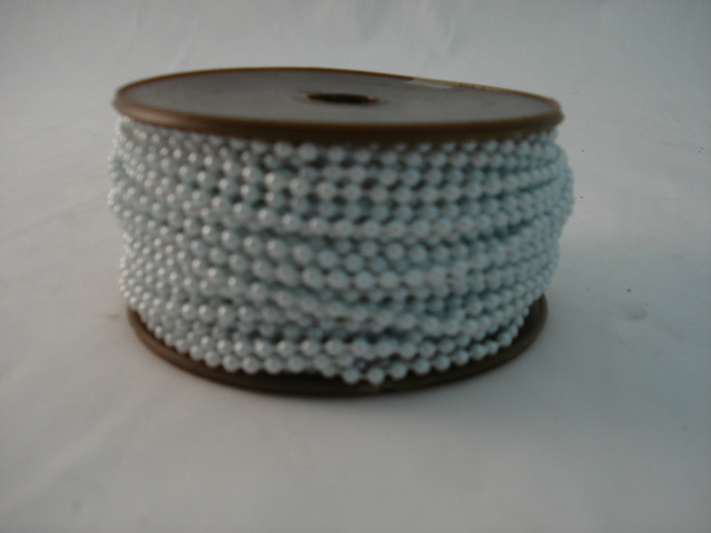 Fused Pearls 3mm x 30 metre Light Blue