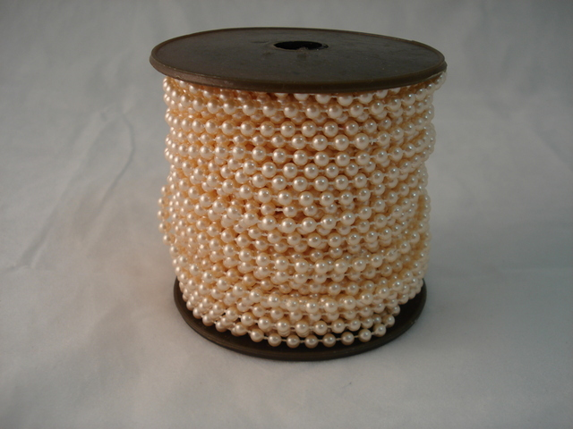 Fused Pearls 4mm x 30 metre Apricot