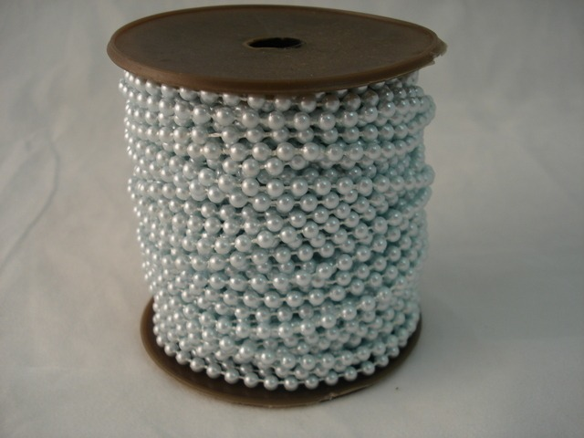 Fused Pearls 4mm x 30 metre Light Blue