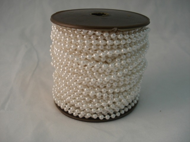 Fused Pearls 4mm x 30 metre White