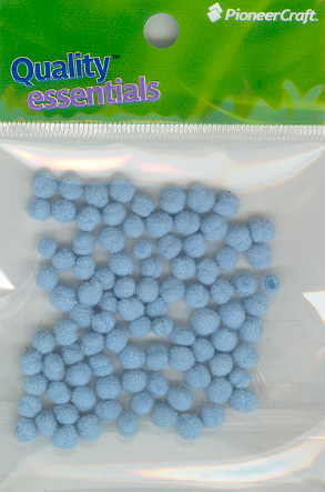 Pom Poms / Chenille Poms/ 5mm Light Blue