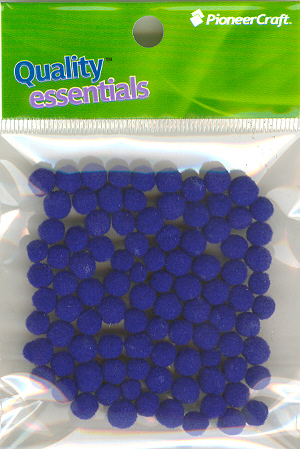 Pom Poms / Chenille Poms/ 7mm Royal