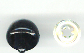 30mm Black Ball Nose 20p