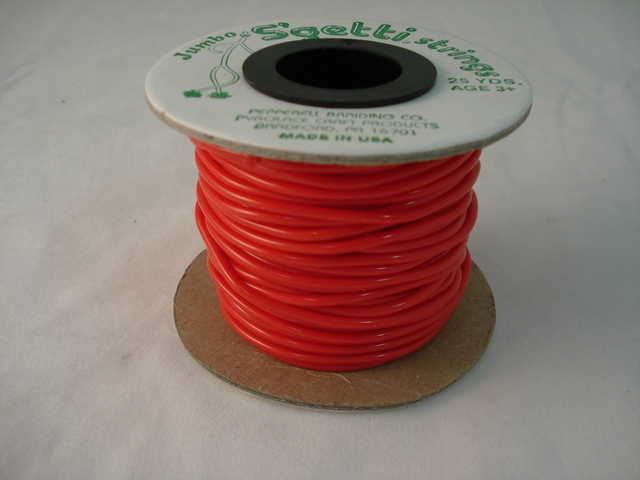 Jumbo S'Getti 3mm, 25 yards, Red
