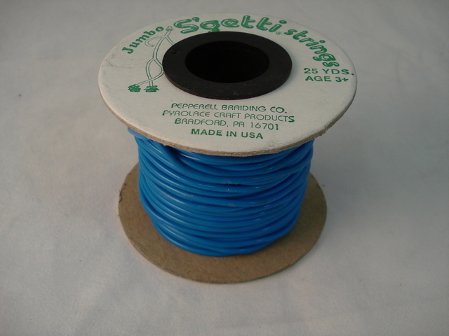 Jumbo S'Getti 3mm x 25 yards, Neon Blue