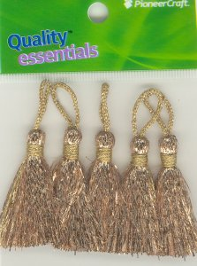 Tassels 35mm G Gold Lurex