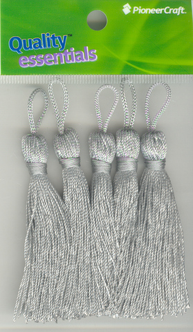 Tassels 70mm 78 Silver Grey