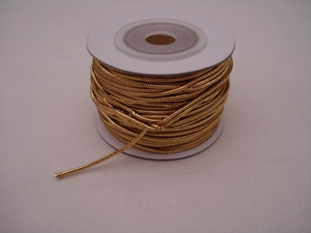 Metallic Elastic Cord Gold; price per 25y Spool